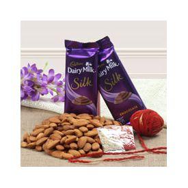2 Cadbury Chocolate Almonds 100gms and Roli Chawal