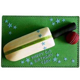 Cricket Bat Fondant Cake