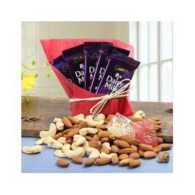 5 Cadbury Chocolate Almonds 100gms Cashews 100gms