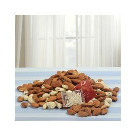 Almonds 100gms Cashews nuts 100gms Roli Chawal
