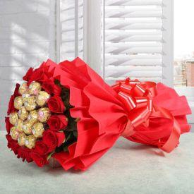 Bouquet of Ferrero Rocher Chocolates
