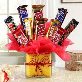bubbly arrangement of chocolates