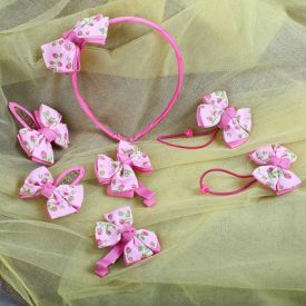 Pink Hair Accessory Set For Kids