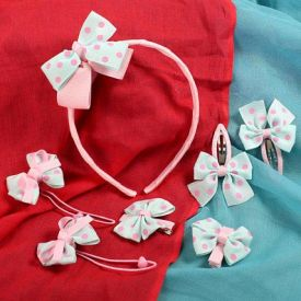 Polka Hair Accessory Set