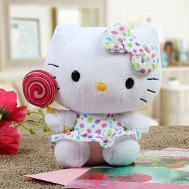 Lovely Hello Kitty with Lollipop