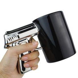 Pistol Gun Ceramic Mug