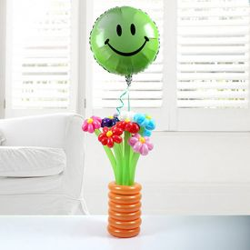 Smiley Table Top Balloons