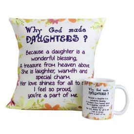 Special Daughters Cushion and Mug