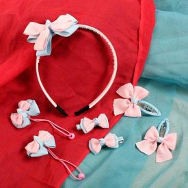 Pink N Blue Hair Accessory Set