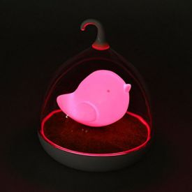 Bird LED Sensor Night Lamp Pink