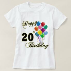 happy birthday t-shirt with balloon