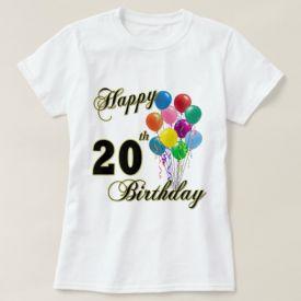 happy birthday t-shirt with balloon