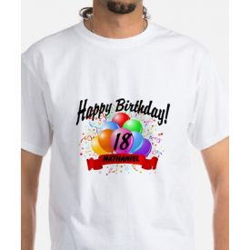 happy birthday balloon t-shirt