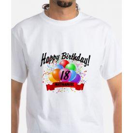 happy birthday balloon t-shirt