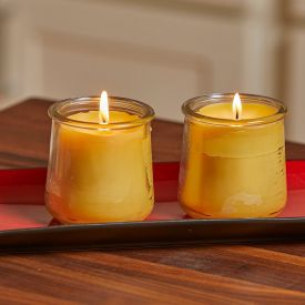 Glass candles Yellow