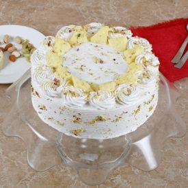 Vanilla flavour Rasmalai Cake