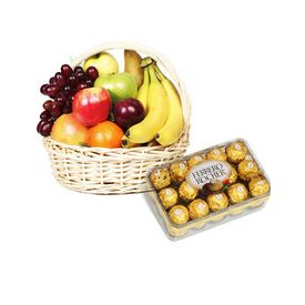 Mixed fruits with Ferrero Rocher