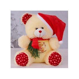 Teddy with santa cap(18 inch)