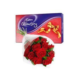 Christmas chocolates with flower