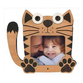 Cat wooden photo frame