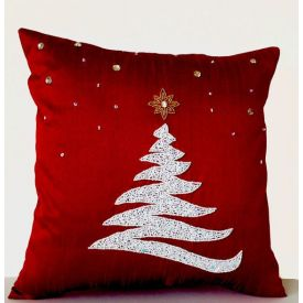 Red Christmas cushion