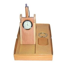 wooden pen stand set