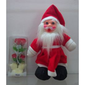 Santa Claus with artificial red Rose