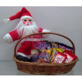 Santa with chocolates hamper