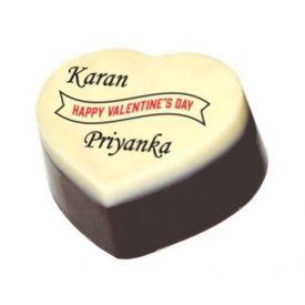 Valentine day couple chocolate