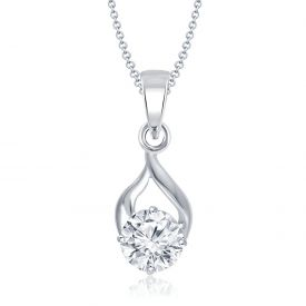 Nakabh Timeless Crystal Stone Pendant Necklace