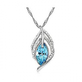 Elegant Blue Austrian Crystal Pendan