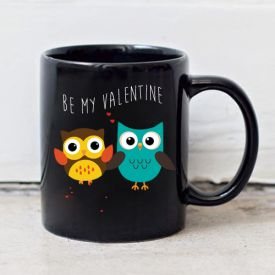 Printed Mug (Be My Valentine- Black)