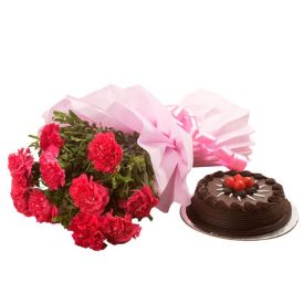 chocolate truffle cake N Flowers