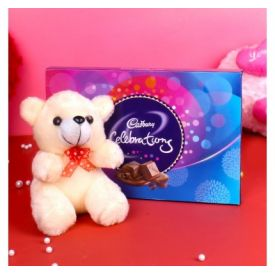 Celebration Chocolate Pack and Teddy Bear