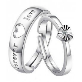 Silver Alloy Couple Rings