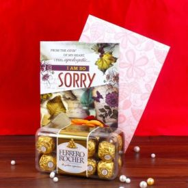 16 Pcs Ferrero rocher with Sorry card