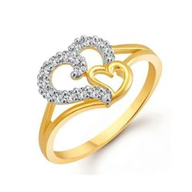 Valentine Heart shape Wedding Fancy Party wear Gold Rings For women, Girl