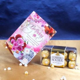 Ferrero rocher with card