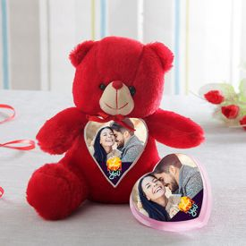 Personalized teddy with personalized chocolate