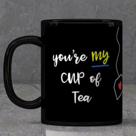 Hug day Black Mug