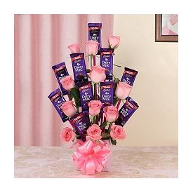 Bouquet of Roses and chocolate