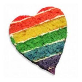 Heart shape holi special cake