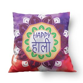 Printed Holi Cushion