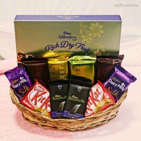 Basket of chocolate