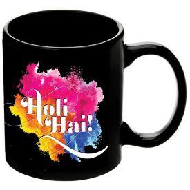 Holi special Black Mug