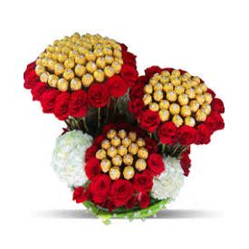 Luxury ferrero rocher With Rose