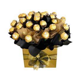 Ferrero rocher with vase