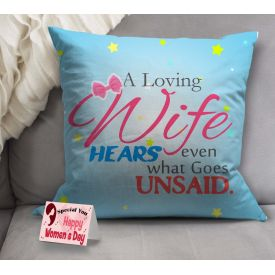 Woman's day cushion