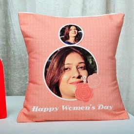 Women's day personalized cushion