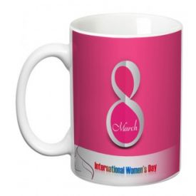 Beautiful designer mug for women's day
